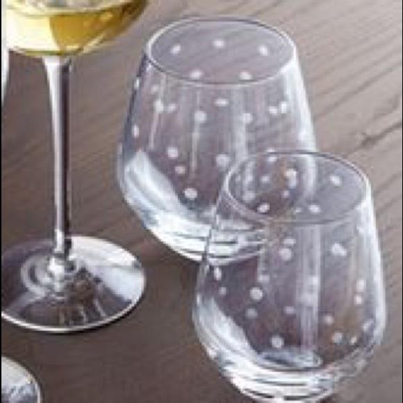 489952b86c6 kate spade Accessories | 4 Larabee Dot Stemless Wine Glass | Poshmark